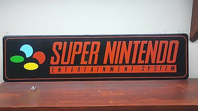 "Super Nintendo Logo Aluminum Sign 6"" x 24"""