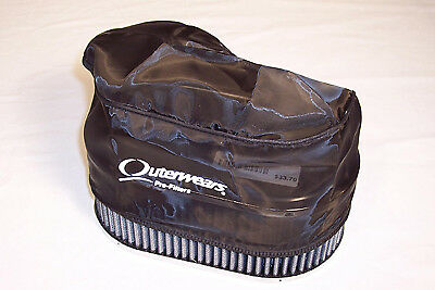 """Premium OUTERWEAR PRE-FILTER, 4.5"""" x 7"""" Oval, 3.5"""" Tall, Black Dunebuggy VW"""