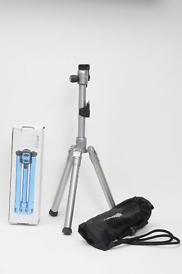 MeFOTO BackPacker Air Travel Tripod MK10 Silver w/Quick Release Plate Includ#021