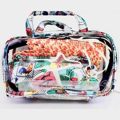 Vera Bradley Mini Ditty Travel Set in Cuban Stamps NWT (retail $48)