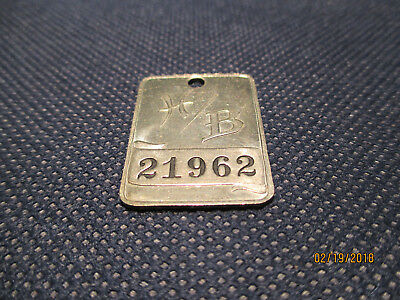 Hess Brothers Numbered Metal Charge Plate/Allentown, PA/Lightly Used