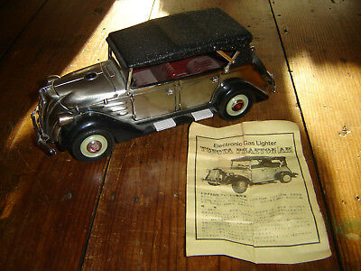 Vintage 1936 Toyota Phaeton Ab Electronic Gas Lighter W/ Intructions Rare