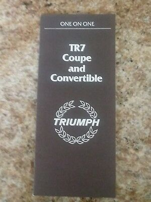 1979 Triumph US TR7 & Coupe & Convertible Salesman's Brochure wy8970