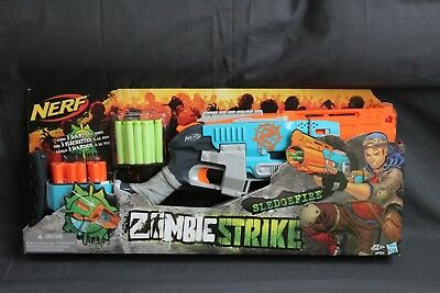 Nerf Zombie Strike Sledgefire Blaster Set Kids Fun Soft Dart Toy Gun Shooter