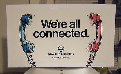 "Vintage New York Telephone Sign - Bold handset graphics - 18"" x 26"""