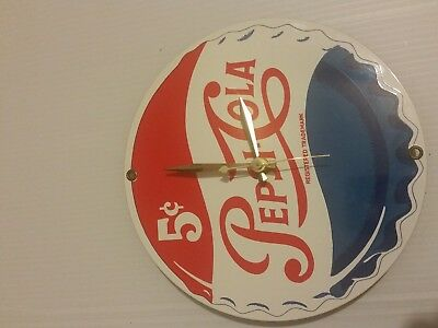 Vintage Pepsi Cola Quartz Wall Clock