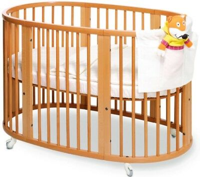 Stokke Sleepi system Crib with mattress, Junior Extension and matching Bookcase