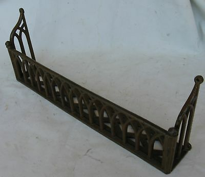 ANTIQUE VICTORIAN CHURCH PEW HYMNAL BIBLE HOLDER RACK 1870's CAST IRON GOTHIC