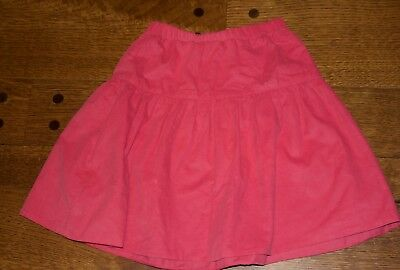 little english corduroy tiered girl's skirt size 10 pink excellent