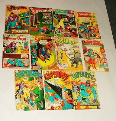 % 1960-70's Superman, Superboy & More Comic Book Collection Lot M-28