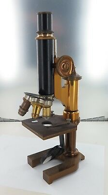 .1899 MONOCULAR MICROSCOPE BY ERNST LEITZ, GERMANY. SERIAL No 53632