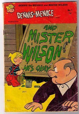 DENNIS THE MENACE & HIS FRIENDS MR WILSON #1 Fawcett Comics 1969 Silver Age FN
