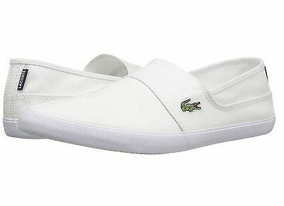 Lacoste Marice BL 2 Men's Croc Logo Casual Slip On Loafer shoes Sneakers White