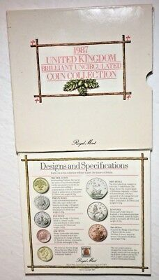 1987 United Kingdom Brilliant Uncirculated Coin Collection - ROYAL MINT**