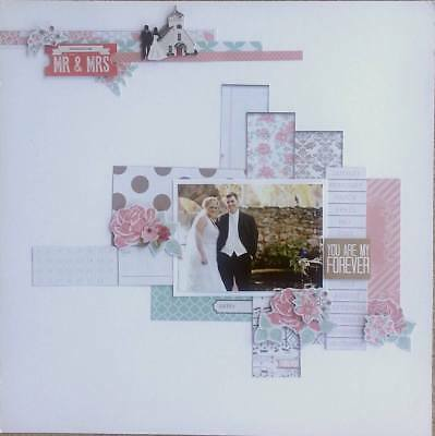 Handmade Premade Scrapbook Page Layout 12 X 12 - You are my Forever!