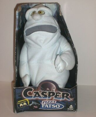 Vintage Casper The Friendly Ghost Pizza Fatso Plush Figure 1994 TYCO Glow Eyes