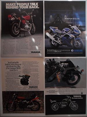 Nice Lot of 20 Different Yamaha Motorcycle Magazine Print Ads Advertising