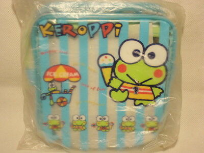 Sanrio Keroppi Frog Ice Cream Clear Vinyl Zippered Bag Pouch 1998