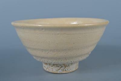 K1201: Korean Ly Dynasty White glaze TEA BOWL Green tea tool Tea Ceremony
