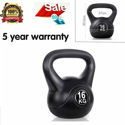 Kettlebells 16Kg Strength Training Fitness Exercise Gym Kit Equipment Warranty