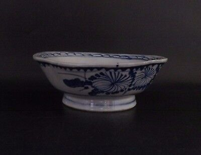 Chinese Blue & White Bowl with followers