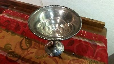 Vintage Sterling Silver Weighted Pedestal Candy Dish Compote Bowl