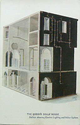 Postcard:tuck's.the Queens Dolls House.series Vi.electric Lighting/water System
