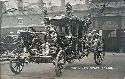 Postcard-Royalty-The Kings Stage Coach.published By Mrs Albert Broom Of Fulham.