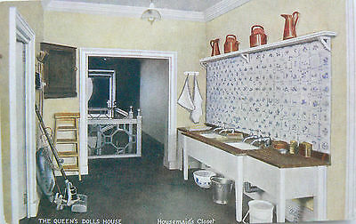 POSTCARD:TUCK'S.THE QUEENS DOLLS HOUSE.SERIES V,No.4504.HOUSEMAIDS CLOSET