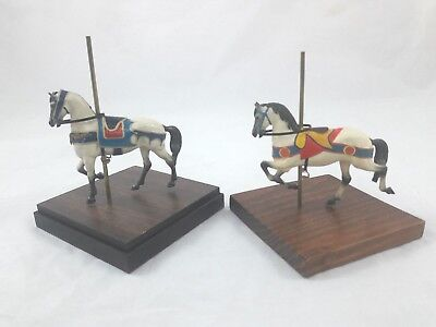 Lot Of 2 Signed Carousel Horses Richard Kilday Miniatures #22 #91