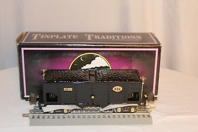 MTH Tinplate Traditions #816 Hopper #10-3007 Black Hopper Car With Load