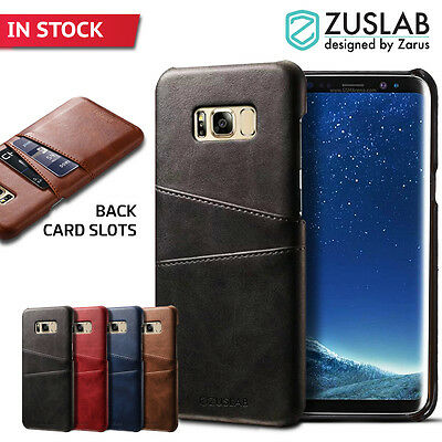 Galaxy S8 S8 Plus Case For Samsung ZUSLAB Back Wallet Card Slot Leather Cover