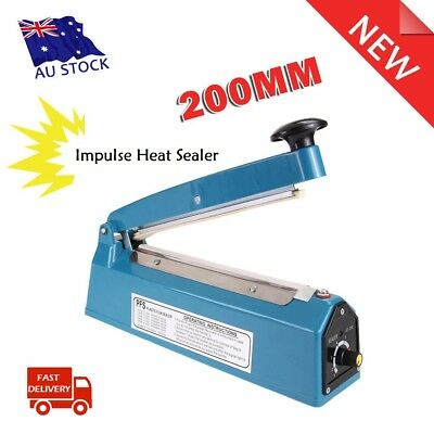 "8"" Impulse Heat Sealer 200mm Electric Plastic Tubing Poly Bag Sealing Machine"
