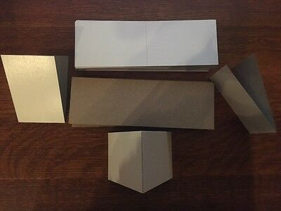 "250 empty 3x4.5"" cardboard sleeves folders vending stickers mail stiffeners tatt"