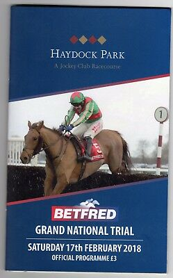 Haydock Park Race Card (book) Saturday 17th February 2018 R41833