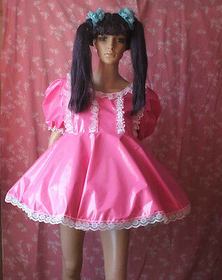 Unisex short adult baby pvc dress ,Fancy dress/sissy/4 row