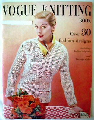 VOGUE KNITTING PATTERN BOOK No.47 - over 30 fashion designs September 1955 - VGC