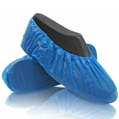 1000 Disposable Shoe Covers For Shoes And Boots Protect Carpets & Floors Blue