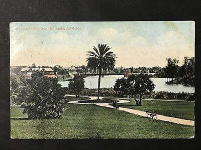 Antique Postcard TORRENS LAKE From ROTUNDA 1906 Red SA 1 Penny Stamp PM Adelaide