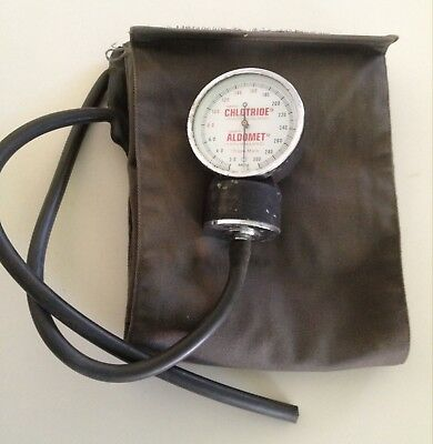 "Vintage Blood Pressure meter similar to a ""Sphygmomanometer"" with cuff, NO pump."