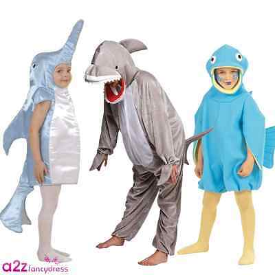 Animal Fish Dolphin Shark Under The Sea Childs Kids Fancy Dress Costume 3-13 Yrs  sc 1 st  PicClick UK & ANIMAL FISH DOLPHIN Shark Under The Sea Childs Kids Fancy Dress ...