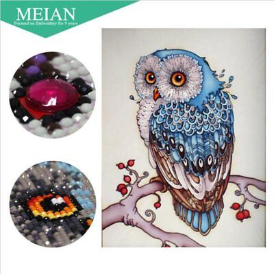 DIY 5D Diamond Painting Owl Embroidery Cross Stitch Crafts Home Wall Decor MT