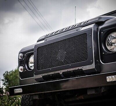 Land Rover Defender Fully Stainless Steel Stealth Front Grille - Uproar 4x4