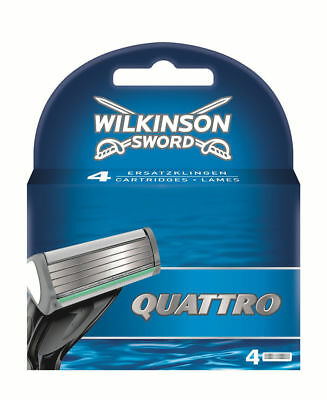 Wilkinson Sword Quattro Plus Razor Blades - Pack of 4