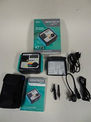 KEWTECH  KT71 Portable Appliance Tester with Automatic Test Sequences Boxed