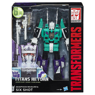 Transformers Generations Titans Return Leader Class SIX SHOT with REVOLVER