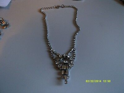 1930'40's crystal stone necklace