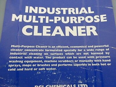 INDUSTRIAL MULTI PURPOSE CLEANER,  30 LITRE TUB,  £45 EACH,    6x30 LITRE TUBS A