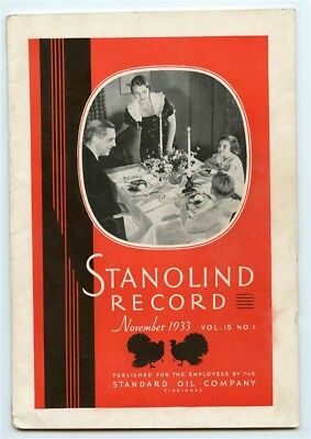 STANOLIND Record November 1933 Standard Oil Co Annual Joint General Conference