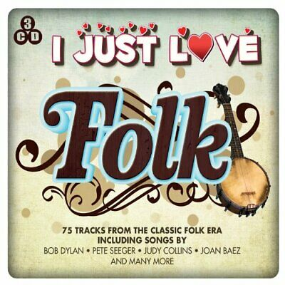 Various Artists - I Just Love Folk - Various Artists CD IKVG The Cheap Fast Free